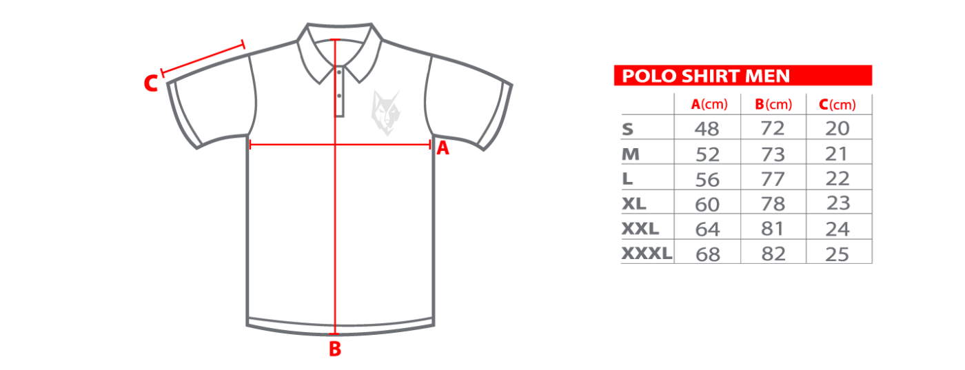 Polo shirt size chart – Vulfram